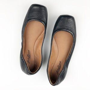 Lucky Brand Black Leather Santana Ballet Flats